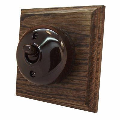 Vintage Dome (Bakelite) Dome | Dark Oak  Sockets & Switches