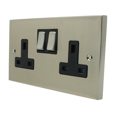 Edwardian Elite Satin Nickel  Sockets & Switches