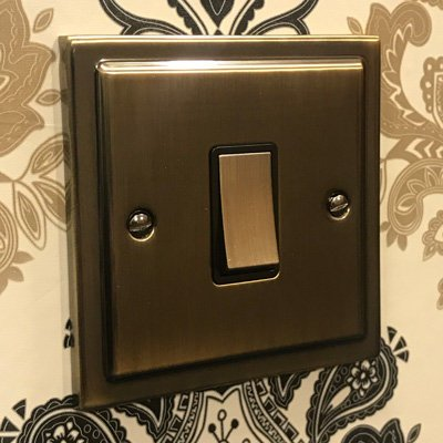 Art Deco Select Antique Brass  Sockets & Switches
