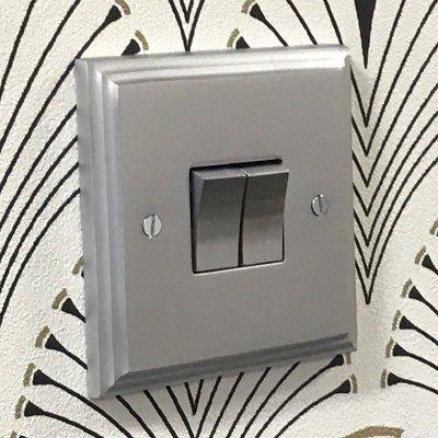 Art Deco Supreme Satin Chrome  Sockets & Switches