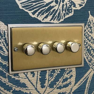 Duo Satin Brass | Polished Chrome Edge  Sockets & Switches