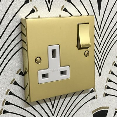 Edwardian Premier Plus Polished Brass  Sockets & Switches