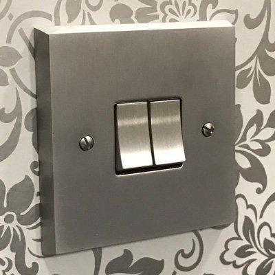 Edwardian Supreme Satin Chrome  Sockets & Switches