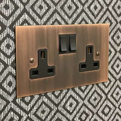 Heritage Flat Antique Copper  Sockets & Switches