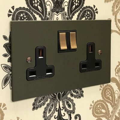 Heritage Flat Green  Sockets & Switches