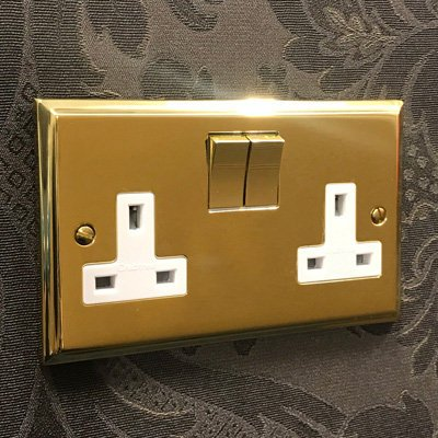 Victorian Premier Plus Polished Brass  Sockets & Switches