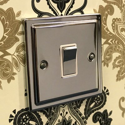 Art Deco Classic Polished Chrome  Sockets & Switches