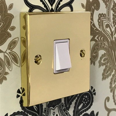 Edwardian Classic Polished Brass  Sockets & Switches