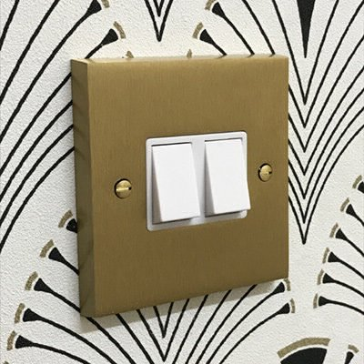 Edwardian Classic Satin Brass  Sockets & Switches