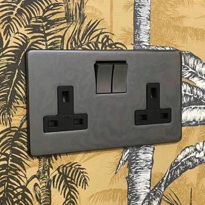 Screwless Supreme Black Nickel  Sockets & Switches