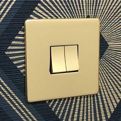 Screwless Supreme Polished Brass  Sockets & Switches