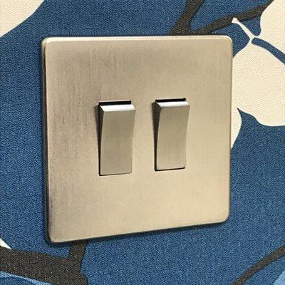Screwless Supreme Satin Chrome  Sockets & Switches