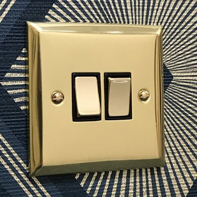 Vogue Polished Brass  Sockets & Switches