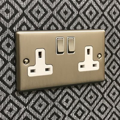 Warwick Brushed Steel  Sockets & Switches