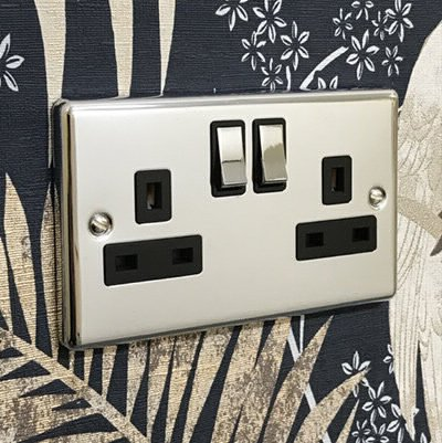 Warwick Polished Chrome  Sockets & Switches